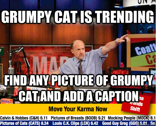 grumpy cat is trending find any picture of grumpy cat and ad - Mad Karma with Jim Cramer