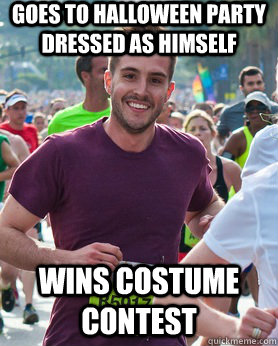 goes to halloween party dressed as himself wins costume cont - Ridiculously photogenic guy