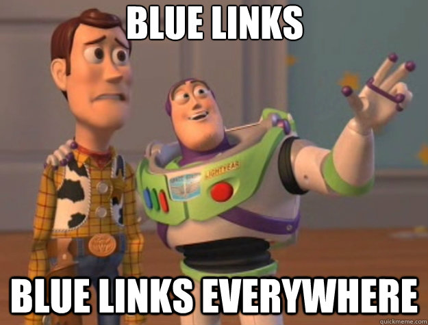blue links blue links everywhere - Toy Story