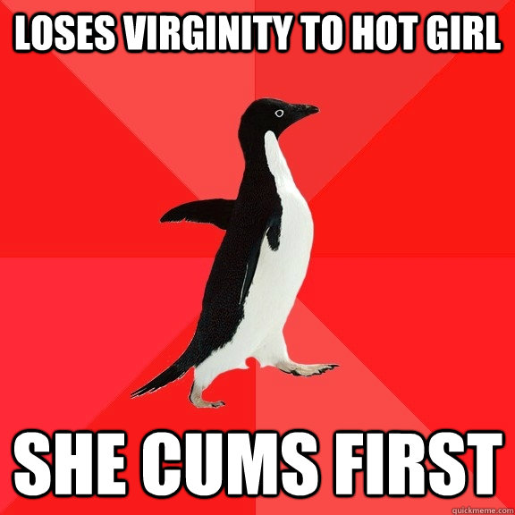 loses virginity to hot girl she cums first - Socially Awesome Penguin