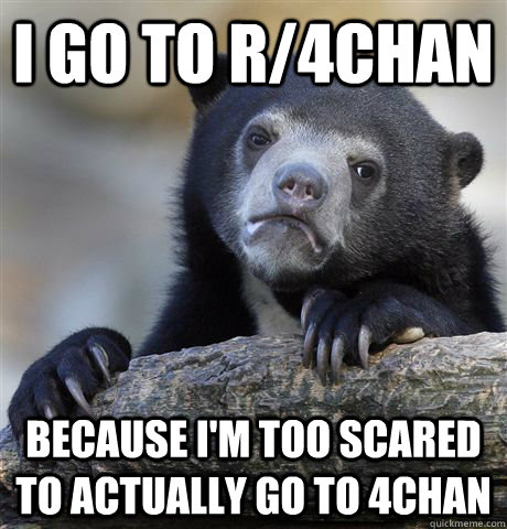 i go to r4chan because im too scared to actually go to 4ch - Confession Bear