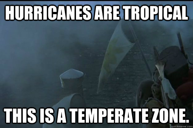 hurricanes are tropical this is a temperate zone - What the NE is thinking about Hurricane Sandy.