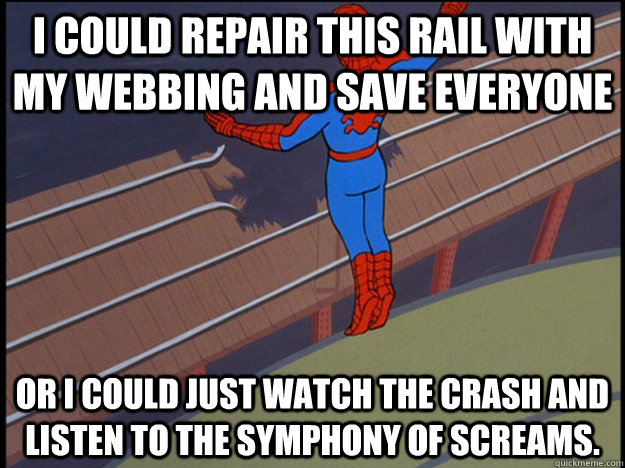i could repair this rail with my webbing and save everyone o -