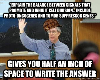 explain the balance between signals that promote and inhibi - Scumbag Professor