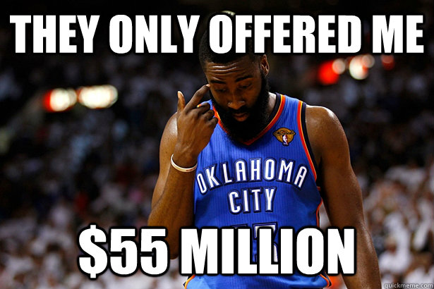they only offered me 55 million - NBA Player Problems