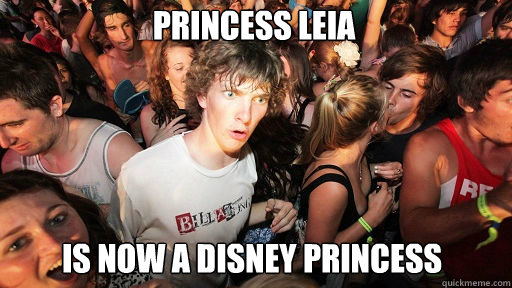 princess leia is now a disney princess - Sudden Clarity Clarence