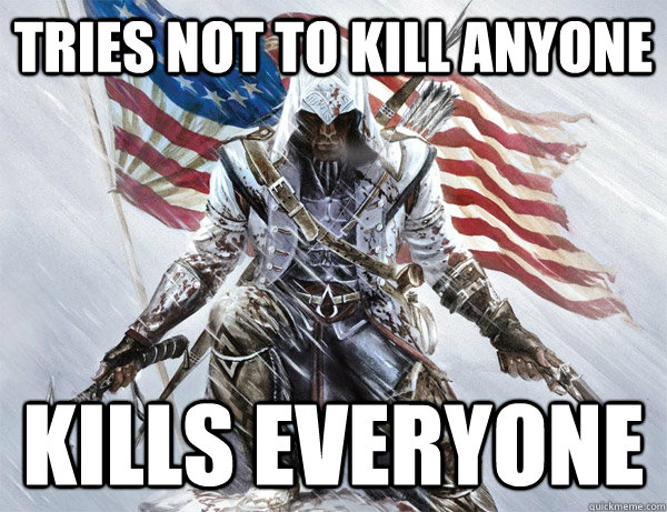 tries not to kill anyone kills everyone -