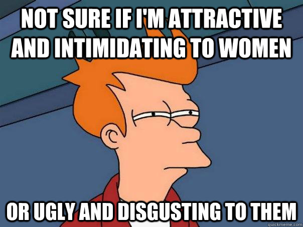 not sure if im attractive and intimidating to women or ugl - Futurama Fry