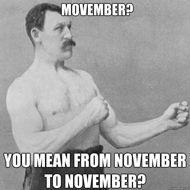 movember you mean from november to november - overly manly man