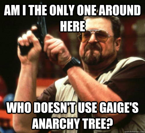 am i the only one around here who doesnt use gaiges anarch - Am I The Only One Around Here