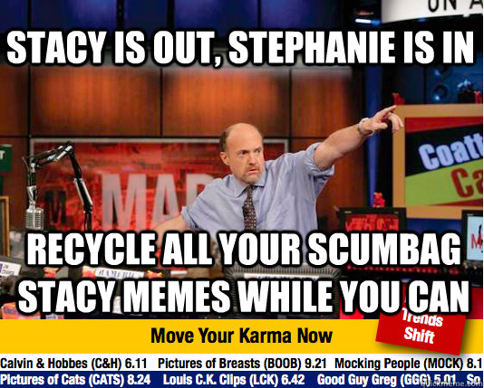stacy is out stephanie is in recycle all your scumbag stacy - Mad Karma with Jim Cramer
