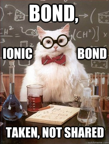 bond taken not shared ionic bond - Chemistry Cat