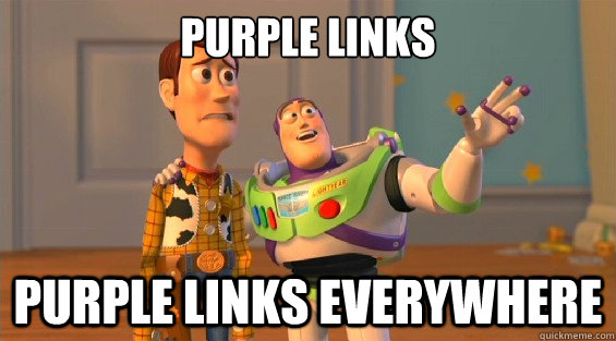 purple links purple links everywhere - boromirs everywhere