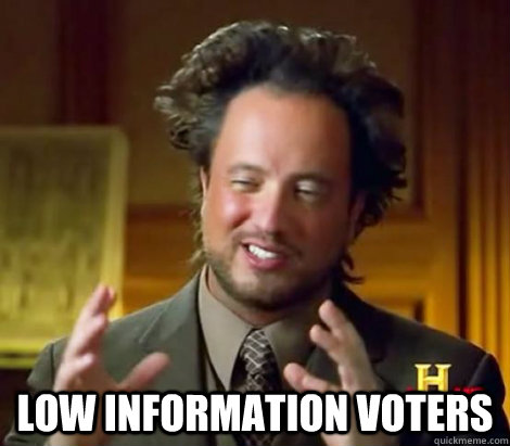 low information voters - Aliens Dude