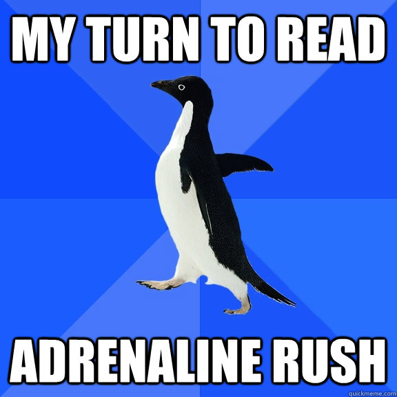 my turn to read adrenaline rush - Socially Awkward Penguin
