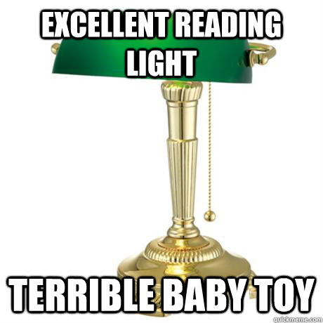 excellent reading light terrible baby toy - Lamp