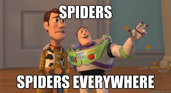 spiders spiders everywhere - Toy Story Everywhere