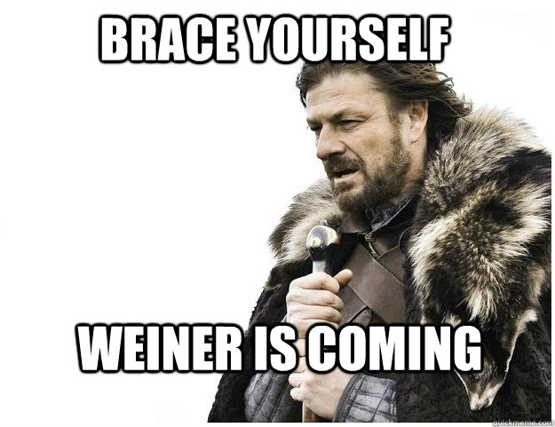 brace yourself weiner is coming - Imminent Ned