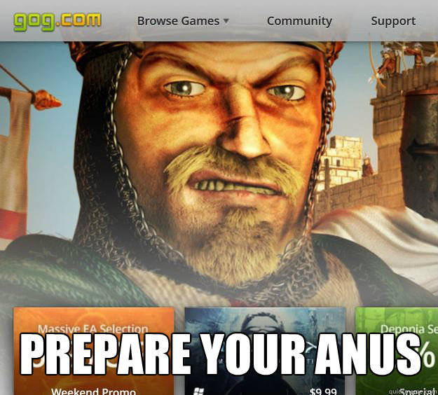 prepare your anus - randy crusader