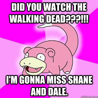 did you watch the walking dead im gonna miss shane an - Slowpoke