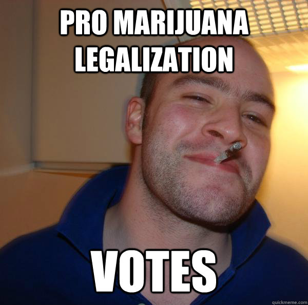 pro marijuana legalization votes - Good Guy Greg