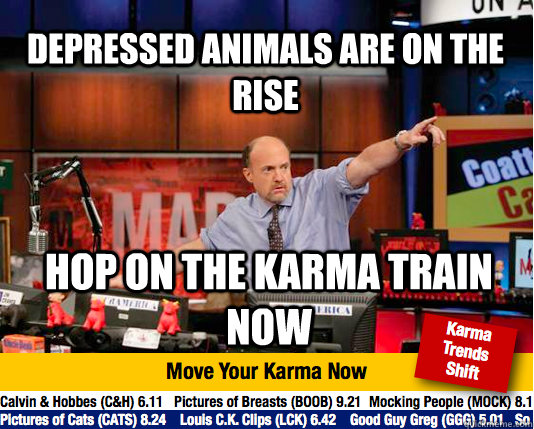 depressed animals are on the rise hop on the karma train now - Mad Karma with Jim Cramer