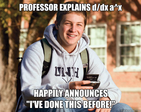 professor explains ddx ax happily announces ive done thi - College Freshman
