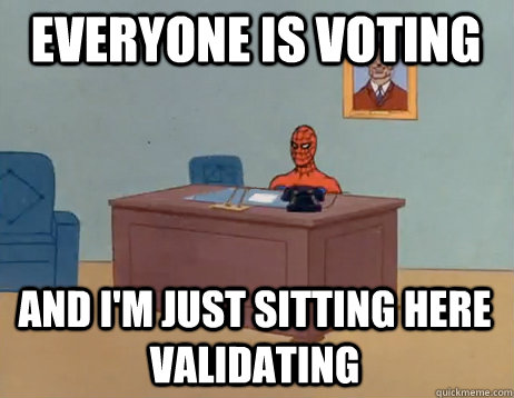 everyone is voting and im just sitting here validatin - Masturbating Spiderman