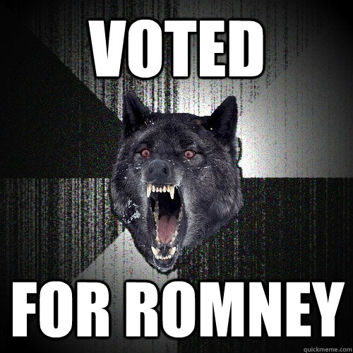 voted for romney - Insanity Wolf