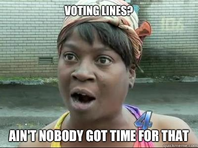 VOTING AINT NOBODY GOT TIME FOR THAT - Aint Nobody Got Time For That