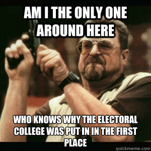 am i the only one around here who knows why the electoral co - Am I The Only One Round Here