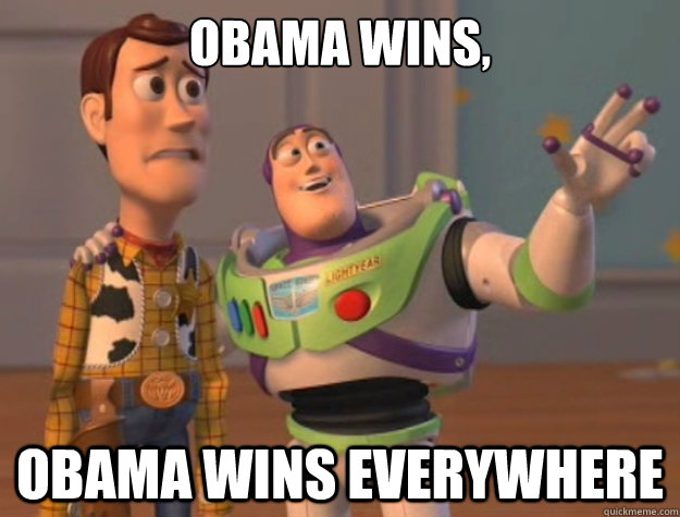 obama wins obama wins everywhere - Buzz Lightyear