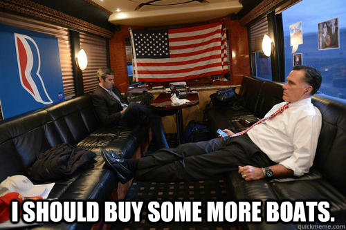 i should buy some more boats  - Sudden Realization Romney