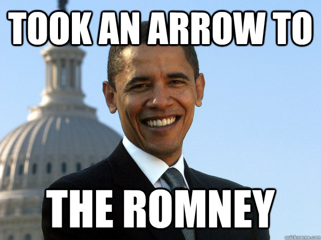 took an arrow to the romney - Arrow to the Romney