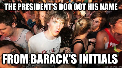 the presidents dog got his name from baracks initials - Sudden Clarity Clarence