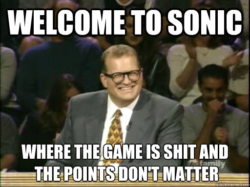 welcome to sonic where the game is shit and the points don - Drew Carey Whose Line