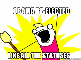 obama reelected like all the statuses - All The Things