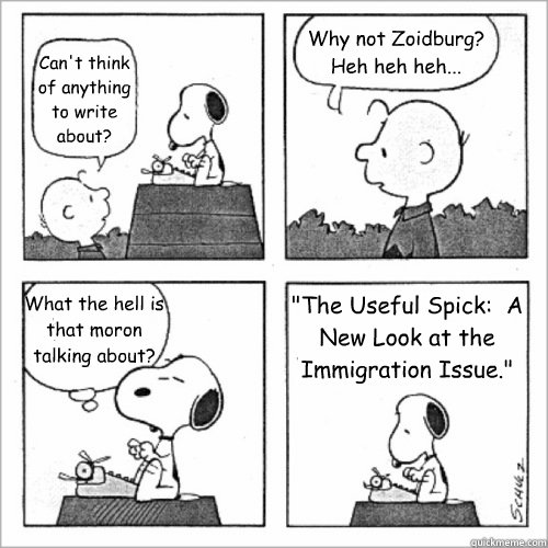 cant think of anything to write about why not zoidburg  - Shitty Peanuts