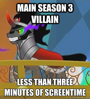main season 3 villain less than three minutes of screentime - 