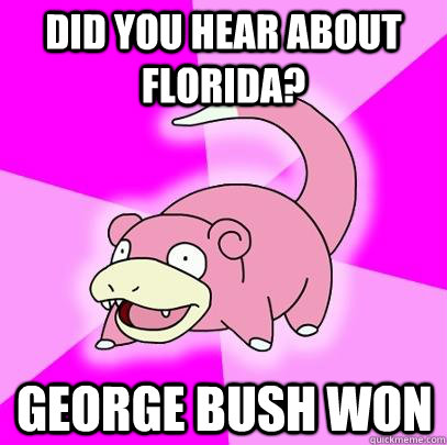 did you hear about florida george bush won - Slowpoke