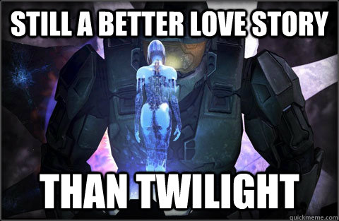 still a better love story than twilight - halo 4 love