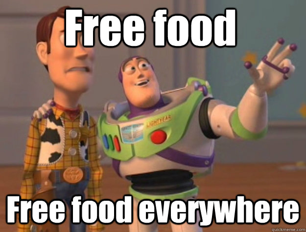 free food free food everywhere - Pinks everywhere