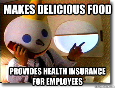 makes delicious food provides health insurance for employees - Good Guy Jack