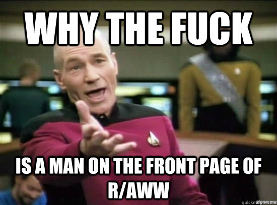 why the fuck is a man on the front page of raww - why the fuck picard