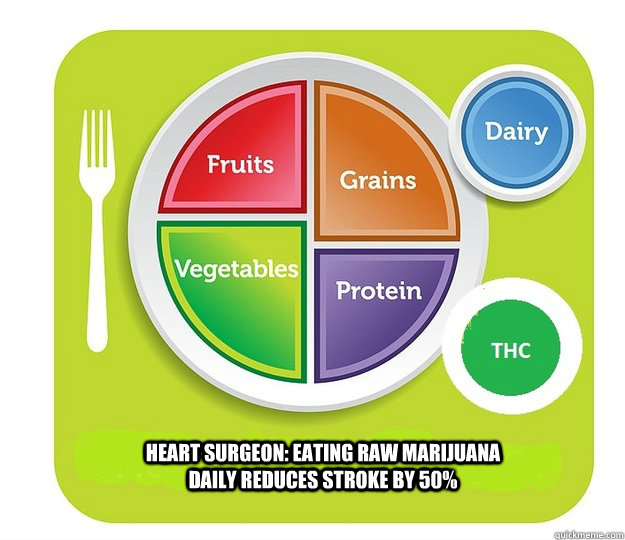heart surgeon eating raw marijuana daily reduces stroke by  - MY Plate