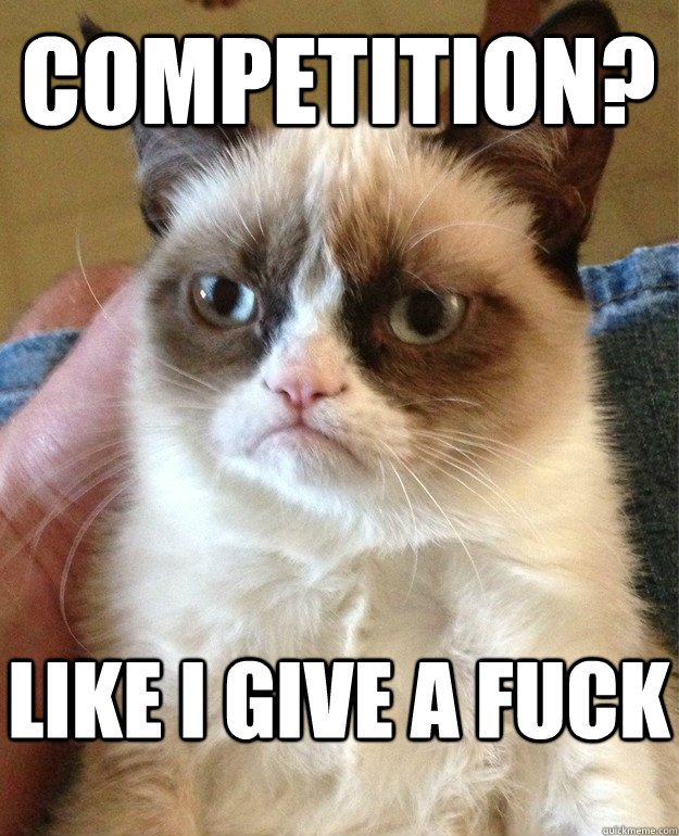 competition like i give a fuck - Grumpy Cat