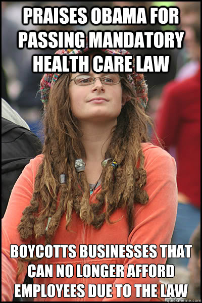 praises obama for passing mandatory health care law boycotts - College Liberal