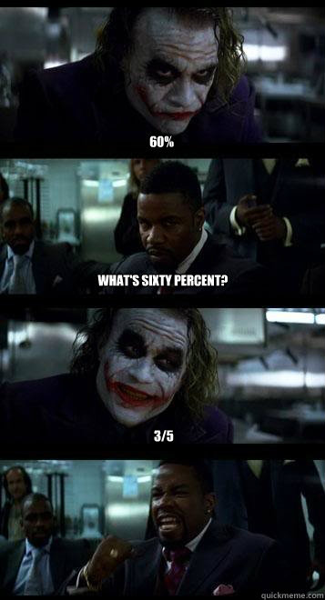 60 whats sixty percent 35 - Joker with Black guy