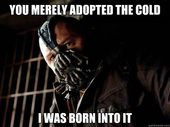 you merely adopted the cold i was born into it - Condescending Bane