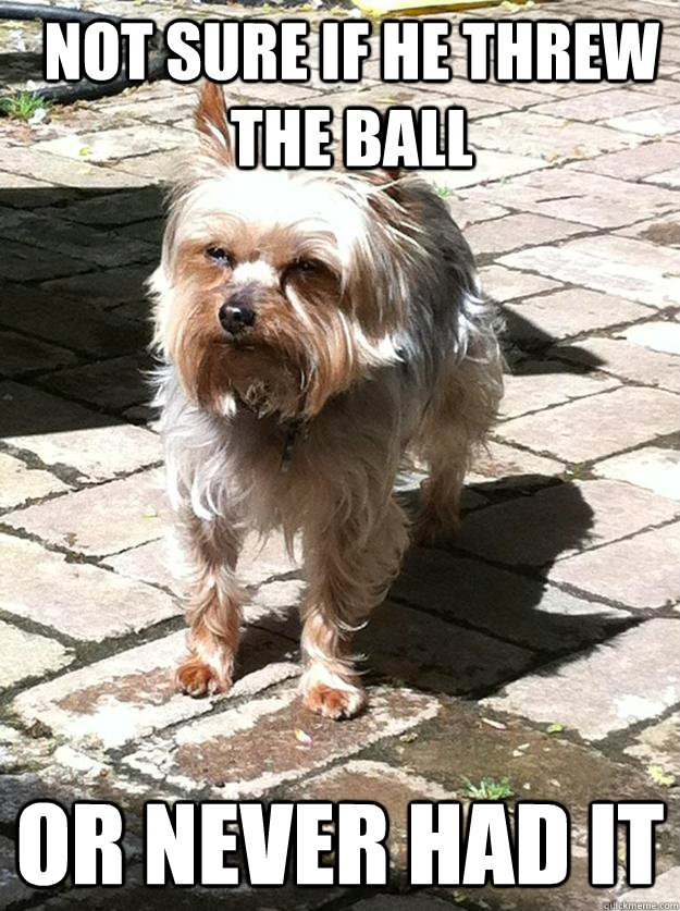 not sure if he threw the ball or never had it -